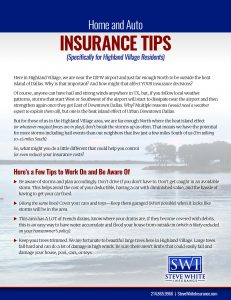 Home & Auto Insurance Tips for Highland Village, Flower Mound (& Surrounding) Residents